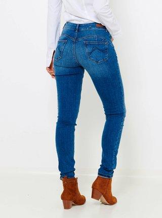Modré push up slim fit džíny CAMAIEU