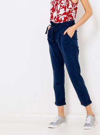 Tmavě modré zkrácené kalhoty CAMAIEU