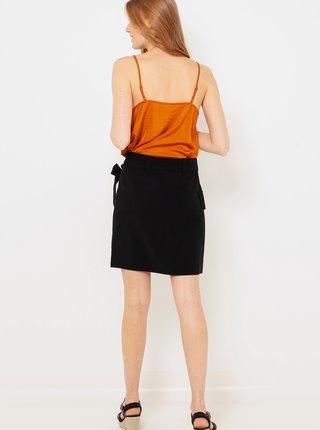 Černá zavinovací sukně CAMAIEU