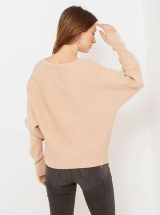 Béžový volný svetr CAMAIEU