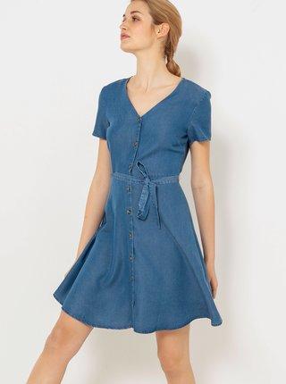 Modré šaty so zaväzovaním CAMAIEU