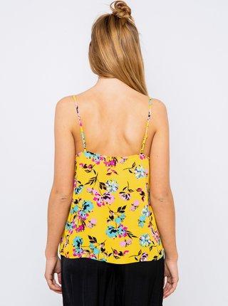 Žltý kvetovaný top CAMAIEU