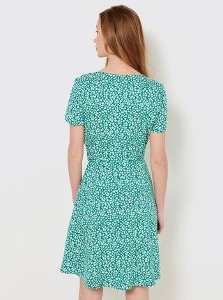 Zelené kvetované šaty CAMAIEU
