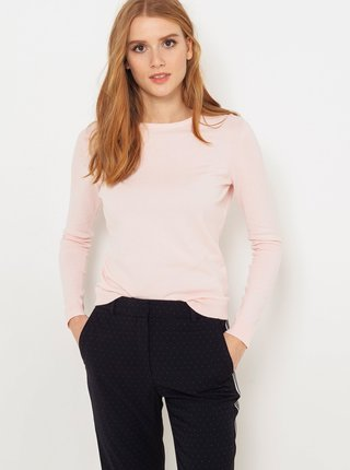 Světle růžový lehký basic svetr CAMAIEU
