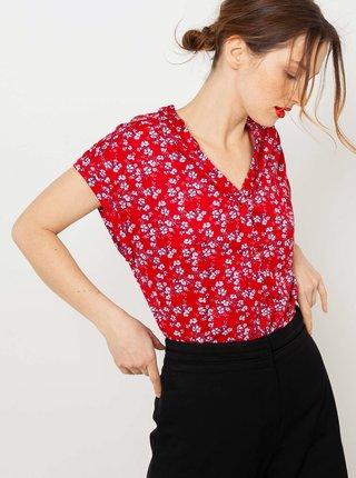 Červená květovaná halenka CAMAIEU
