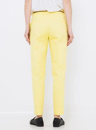 Žlté straight fit nohavice CAMAIEU