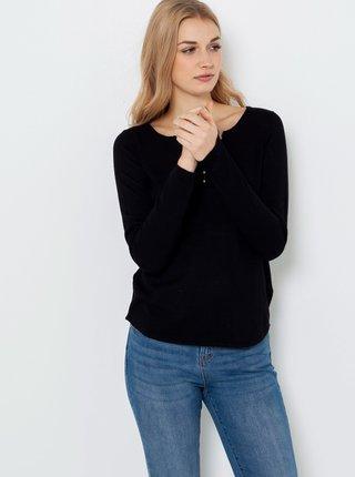 Černé tričko s véčkovým výstřihem CAMAIEU