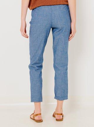 Modré skrátené nohavice CAMAIEU