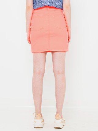 Svetloružová rifľová sukňa CAMAIEU