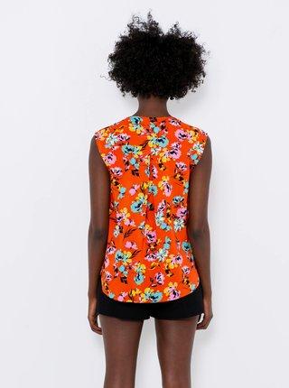 Oranžová kvetovaná blúzka CAMAIEU