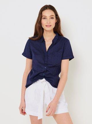 Tmavě modrá vzorovaná košile CAMAIEU
