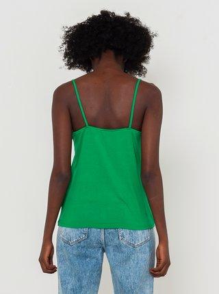 Zelený top s ozdobnými detaily CAMAIEU