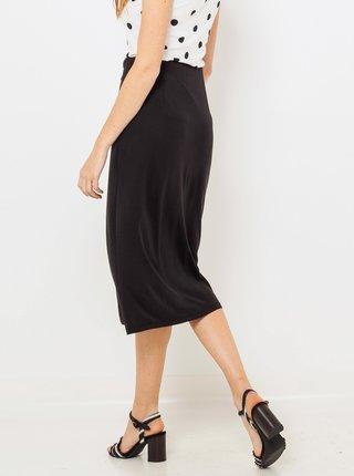 Černá zavinovací midi sukně CAMAIEU
