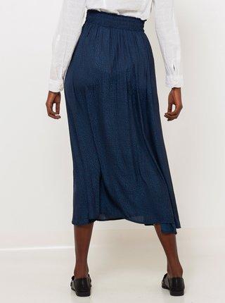 Tmavomodrá midi sukňa CAMAIEU