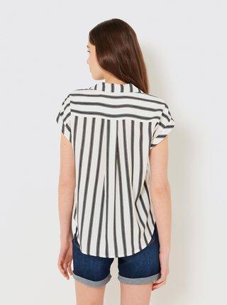 Šedo-bílá pruhovaná košile CAMAIEU