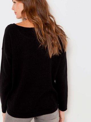 Tmavě hnědý lehký svetr s příměsí vlny CAMAIEU