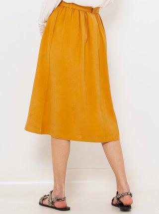 Hořčicová midi sukně CAMAIEU