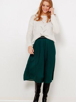 Zelená plisovaná sukně CAMAIEU