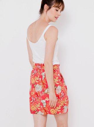 Červená vzorovaná sukňa CAMAIEU