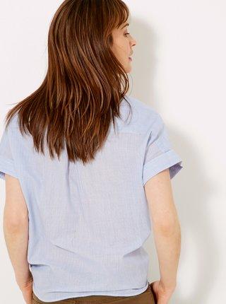 Svetlomodrá košeľa s výšivkou CAMAIEU