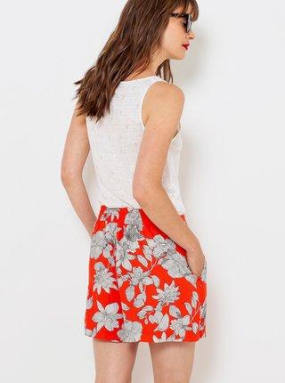 Červené kvetované kraťasy CAMAIEU