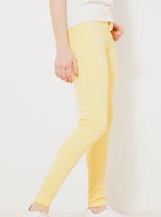 Žlté skinny fit nohavice CAMAIEU