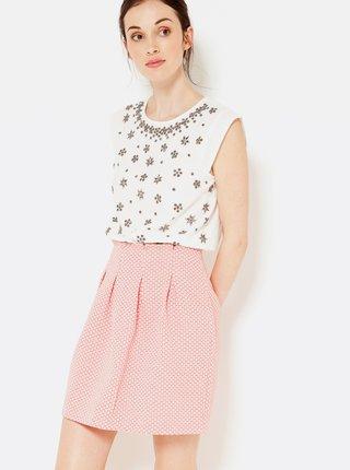 Růžová vzorovaná sukně CAMAIEU