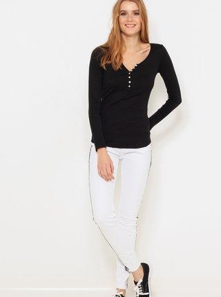 Bílé skinny fit džíny s lampasem CAMAIEU