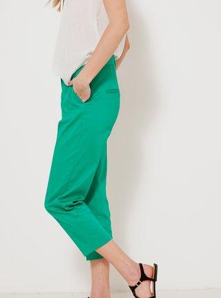 Zelené straight fit kalhoty CAMAIEU