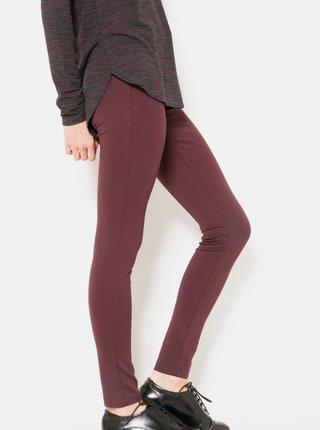 Vínové nohavice so zipsom CAMAIEU