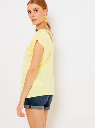 Žlté tričko s potlačou CAMAIEU
