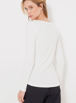 Bílé tričko s knoflíky CAMAIEU