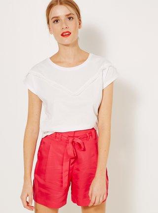 Bílé tričko s ozdobným detailem CAMAIEU