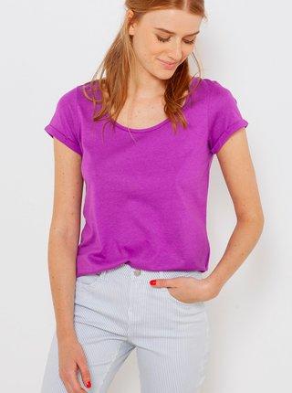 Fialové basic tričko CAMAIEU