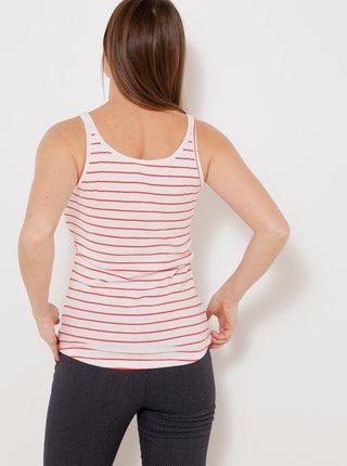 Topy a tričká pre ženy CAMAIEU - biela, červená