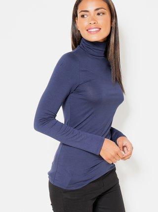 Tričká s dlhým rukávom pre ženy CAMAIEU - modrá