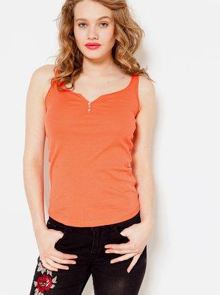 Oranžové tílko s knoflíky CAMAIEU