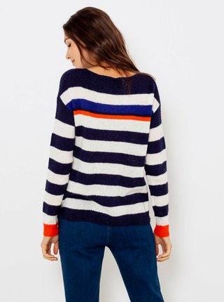 Modro-biely pruhovaný sveter CAMAIEU