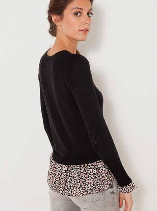 Černý lehký svetr s vsadkou CAMAIEU
