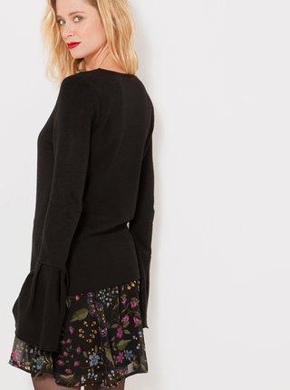 Černý lehký svetr s volány CAMAIEU