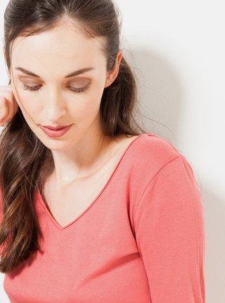 Růžové basic tričko CAMAIEU