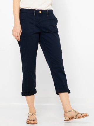 Tmavě modré 3/4 kalhoty CAMAIEU