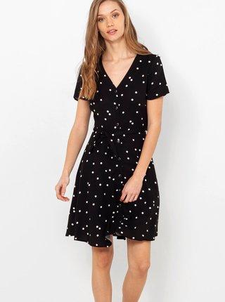 Čierne bodkované šaty CAMAIEU