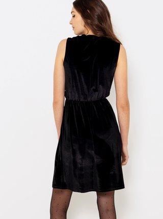 Černě sametové šaty CAMAIEU