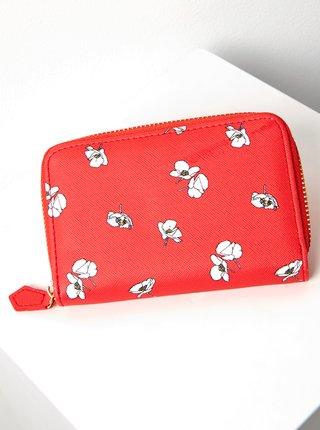Červená kvetovaná peňaženka CAMAIEU