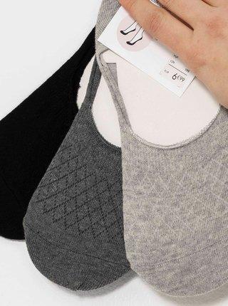 Sada 3 párů nízkých ponožek CAMAIEU