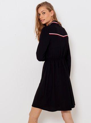 Černé šaty se tojáčkem a ozdobným lemováním CAMAIEU