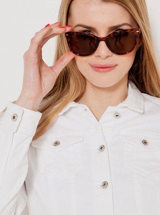 Hnědé sluneční brýle se vzorem CAMAIEU