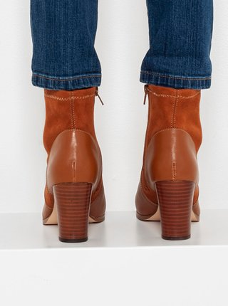 Hnedé členkové topánky CAMAIEU