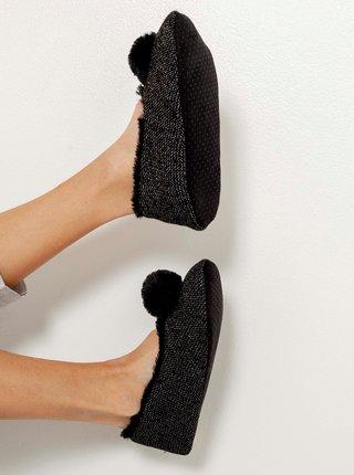 Černá domácí obuv CAMAIEU